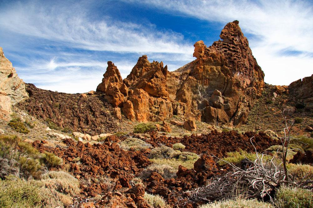 Volcanic landscape in Teide's National Park