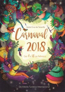 Tenerife Carnival Poster Teide by Night