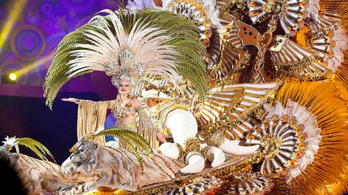 Tenerife Carnival Queen Teide by Night