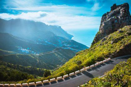Road in Anaga Mountains, Taganana