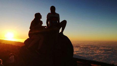 Volcano Teide Valentines Day