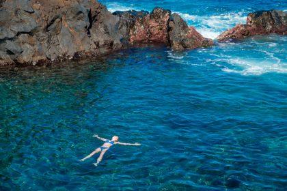 Swimming in Atlantic Ocean