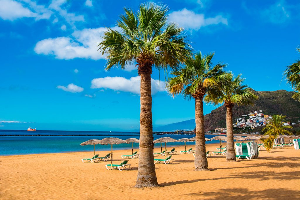 Tenerife Las Teresitas during autumn